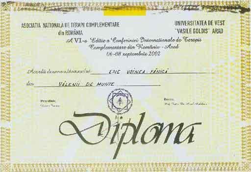 II 2  Diploma De Pretuire Oferita   N 2005 De Ministerul Apararii